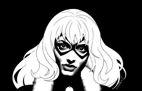 Colorless Comic Book Portraits