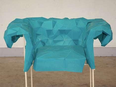 Aquamarine Paper Furniture