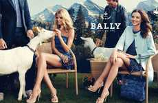 Swiss Tea-Party Shoots - The Bally Spring/Summer Campaign Sweeps the Snowy Alps