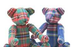 Posh Plaid Plushies  - The Head Porter Plush Teddy Bear is a Dapper Stuffed Animal