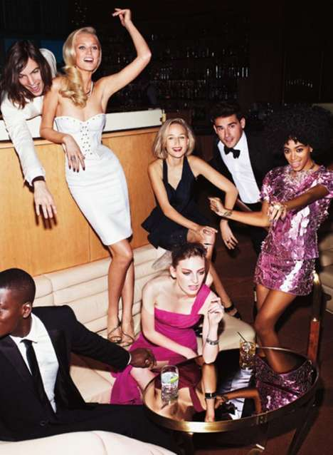 Chaotic Celebrity Party Captures