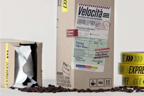 Couriered Coffee Branding
