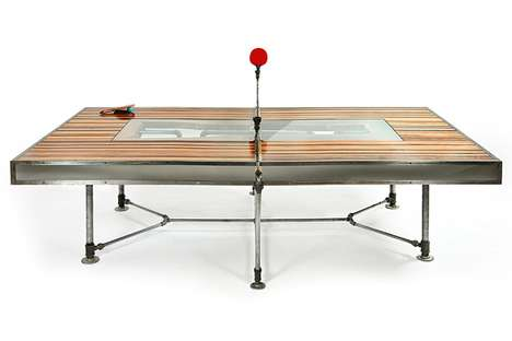 Evolution-Inspired Table Tennis - The Pingtuated Equilibripong Table Converts into Dining Furniture