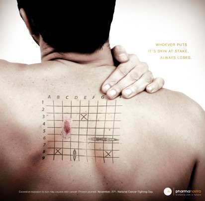 Skin Cancer Campaigns - The Pharma Nostra Print Ads Shows That Sun Exposure is Not a Game