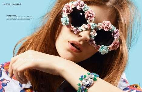 Floral-Framed Fashion