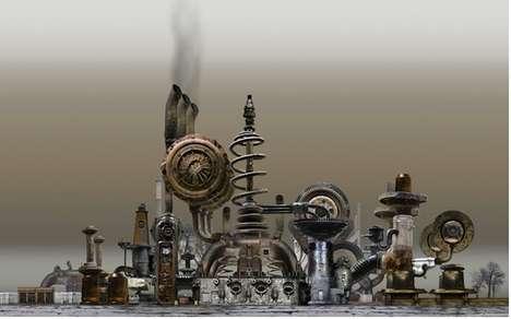 Mechanized Factory Sculptures