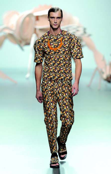 Flower-Printed Menswear