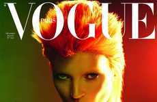 Psychedelic Supermodel Transformations - The Kate Moss Vogue Paris December/January Cover is Rocking