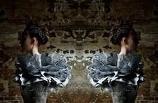 Futuristic Baroque Fashion - The Dramatic & Haunting Malgorzata Dudek Spring Summer Collection