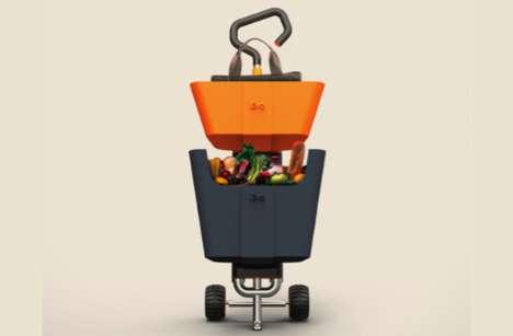 Basket-Toting Trolleys