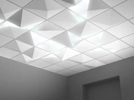 Diamond-Inspired Ceilings