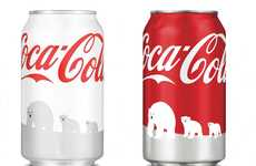 Revised Rouge Rebranding - Coca-Cola Arctic Home Cans Go Back to Being Iconic Red
