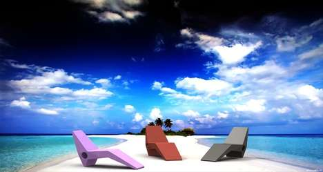 Color-Blocked Beach Furniture