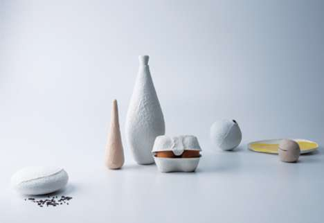 Tactile Texturized Tableware - Sunday Morning Breakfast is Inspired by the Egg Carton