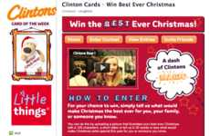 Wish-Granting Greetings - Clinton Cards Will Make a Customer's Holiday Wish Come True