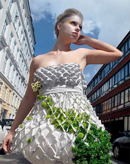 Glamorous Greenery Ensembles - The MESH 'Wearable Garden' is a Fashion Experiment