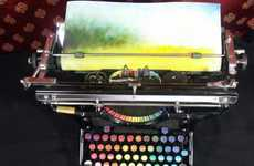 Colorful Typing Machines - The Chromatic Typewriter by Tyree Callahan Fills the Page with Hues