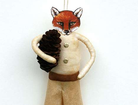 Fantastic Fox Christmas Ornaments