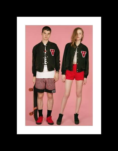 Androgynous Varsity Lookbooks