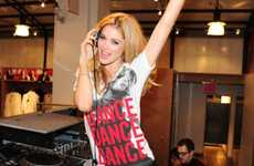 HIV Teen Tributes - The Giorgio Armani and Doutzen Kroes Tee Design for 'Dance 4 Life' Inspires All
