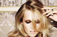 Beautiful Bedhead Editorials - The Toni Garrn for Vogue Russia Shoot is Super Sultry