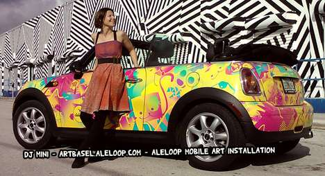 Mini Cooper Artwork - Alejandra Leibovich Creates Psychedelic Cars