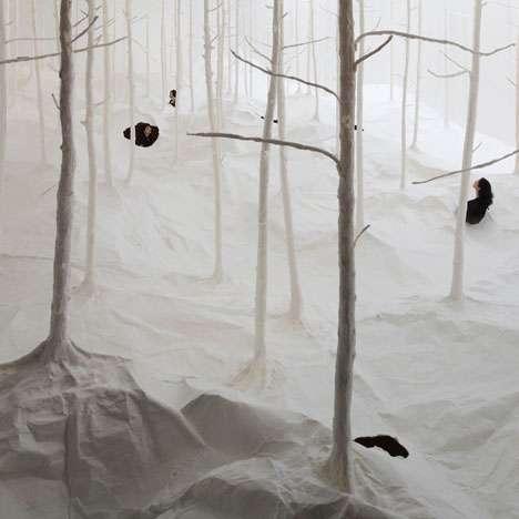 Snowy Stationary Scenes