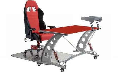 The PitStop Grand Prix Series Office Chair Brings the Racetrack Home