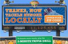 Interactive Donation Games - Kraft 'Huddle to Fight Hunger' Campaign Asks Users to Play & Donate