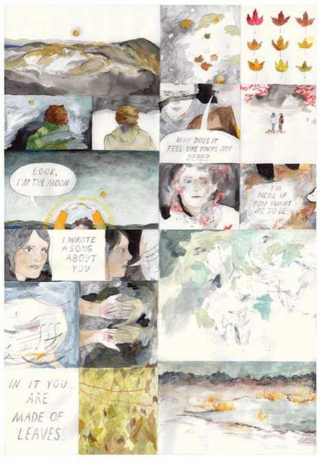 Watercolor Comic Panel Paintings