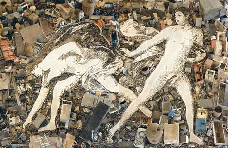 Paint-Like Garbage Art - Vik Muniz's Pictures of Junk Series Focuses on the Classics