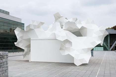Crumpled Paper Canopies