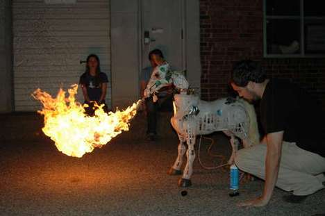 Flame-Throwing Horses
