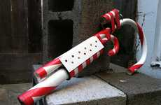 Defensive Holiday Weaponry - Santa Slays the Naughty with Candy Cane Weapons of the North Pole