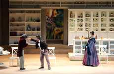 Pre-Fab Furnished Stages - IKEA Set Design Creates a Contemporary Atmosphere for Historical Operas