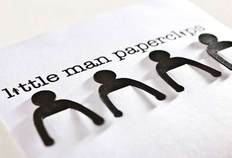 Cute Designer Stationery - Little Man Paperclips Will Put a Smile on Your Face