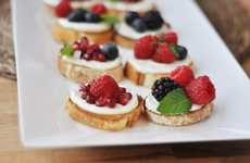 Fruit-Topped Hybrid Snacks - This Sweet Berry Bruschetta is a Sugary Remix of the Italian Classic