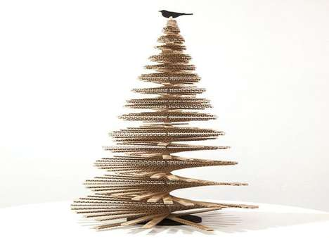 Giant Cardboard Tannenbaums - Giles Miller's Carboard Christmas Tree is the World's Largest