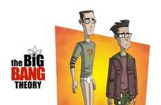 Animated Sitcom Caricatures - Otis Frampton Illustrates People From the Big Bang Theory