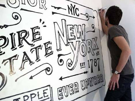 Handmade Typography Decals