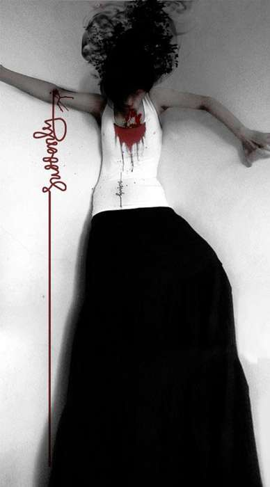Marvelously Macabre Apparel - The Suddenly Sudden Bloody Tank Top is Vampire Chic