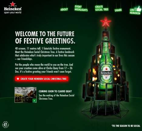 The Heineken Social Tree Will Change Modern Christmas