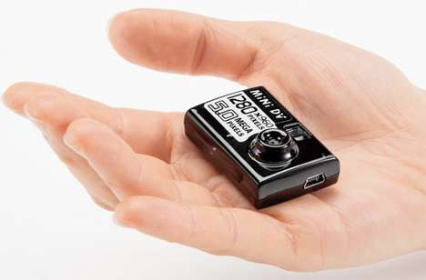 Keychain Digital Cameras - The Sanwa 400 CAM-007 is Small Enough to be Swallowed