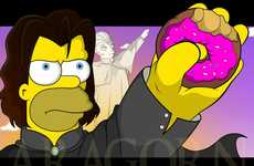 Dysfunctional Family Fantasy Mash-Ups - Mary Johan Juver Melds The Simpsons and Lord of the Rings