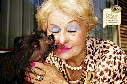 Lipstick-Licking Dog Ads