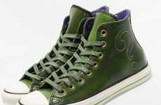 Villainous Green Kicks - Chuck Taylor All Star 'The Riddler' Shoes Pay Homage to an Iconic Nemesis