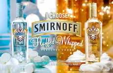 Sweet Liquor Confections - Smirnoff Fluffed Marshmallow Vodka Brings Flavored Dessert to Booze