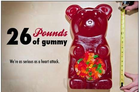 Hefty Gelatinous Vessels - The 26 Pound Gummy Bear Doubles as a Punch Bowl
