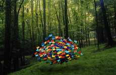 Flocking Object Photography - Swarms by Thomas Jackson is Slightly Sinister