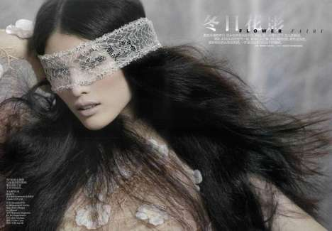 Ethereal Lace Mask Editorials